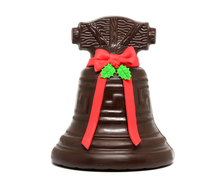 Chocolate bell isolated on white background