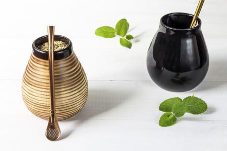 yerba mate: Fresh tasty yerba mate with dedicated accesories