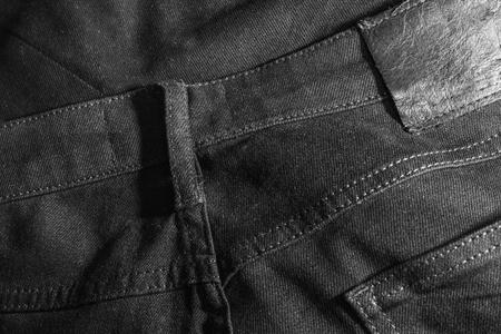 black jeans close up Stock Photo