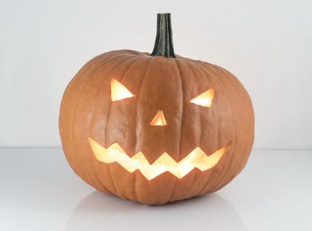 Halloween carved pumpkin, jack-o-lantern Stock fotó