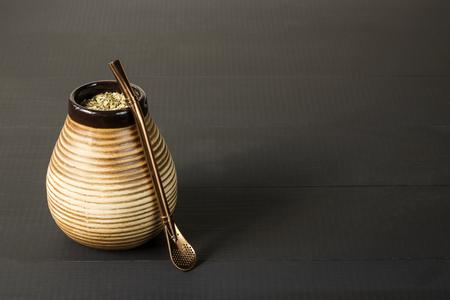yerba mate: yerba mate, traditional south american drink