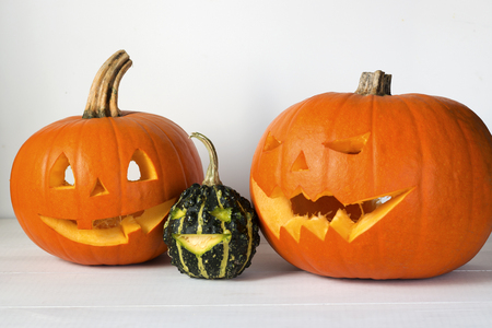Halloween carved pumpkin, jack-o-lantern Banque d'images