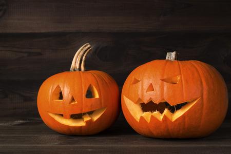 Halloween carved pumpkin, jack-o-lantern Stock Photo