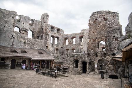 Ogrodzieniec castle ruins in Silesia, Poland