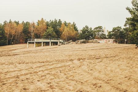 Bledow desert (Desert Bledowska) biggest sand desert in Silesia region in Poland Stock Photo