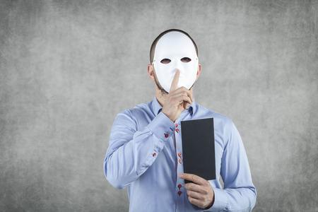 venal: businessman wearing a mask