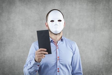 Businessman wearing a mask  photo