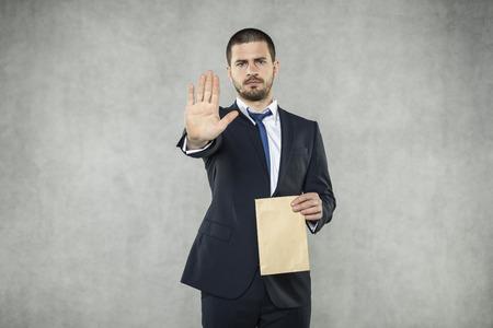 STOP with bribe Reklamní fotografie