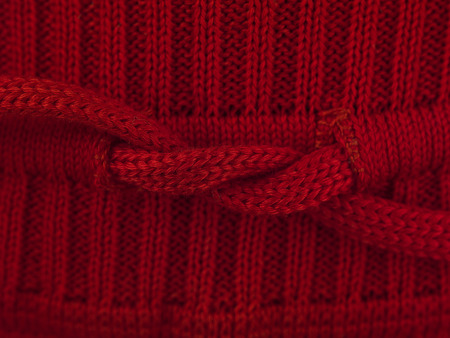 counterpane: red bow sweater macro