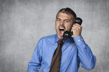 angry boss: customer service over the phone is always nice