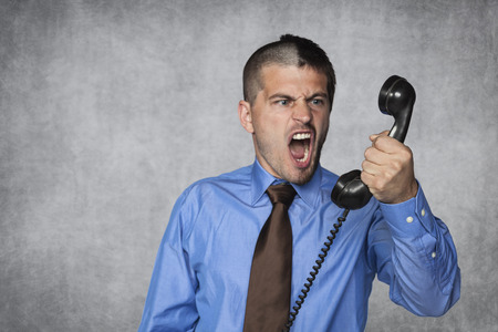 voicemail: businessman unloads anger on the employee by phone