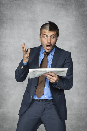 nonsense: what a bad news in the newspaper Stock Photo
