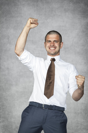 succes: celebrating succes Stock Photo