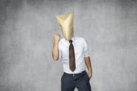 reproach: businessman with the box head