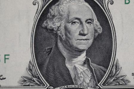 george washington: Dólar EE.UU. en el tiro macro Foto de archivo
