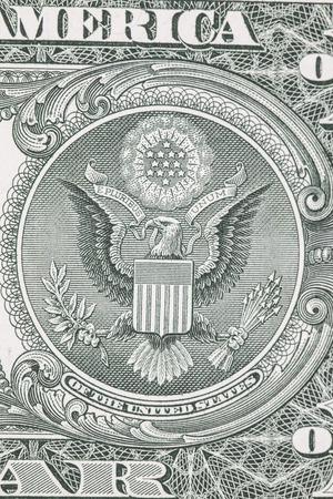 pluribus: one dollar bill reverse macro Stock Photo