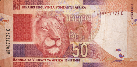 rand: Lion on the Rand from South Africa