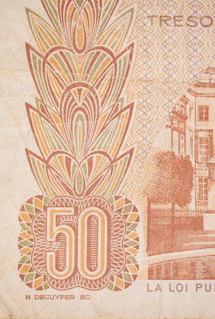 banknote uncirculated: fifty BEF