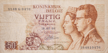 unc: Forward old Belgian banknote