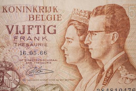 unc: Banknote from Belgium Stock Photo