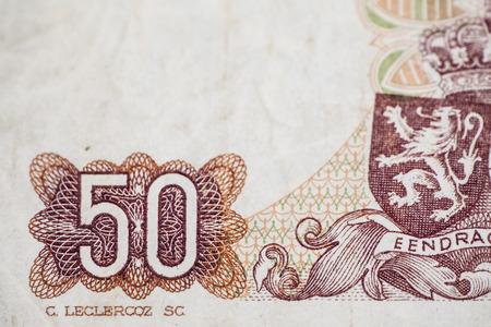 papermoney: Fifty francs denomination Stock Photo