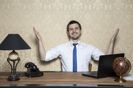 too: You too can be a successful businessman Stock Photo