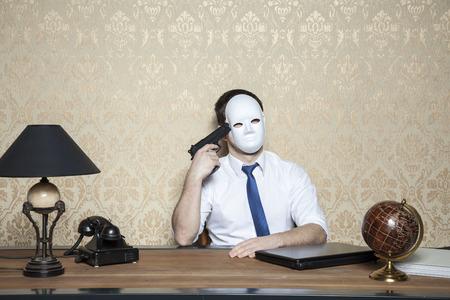 commit: bankrupt Wants to Kill Himself Stock Photo