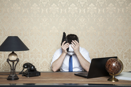reached: rich investors reached crisis Stock Photo