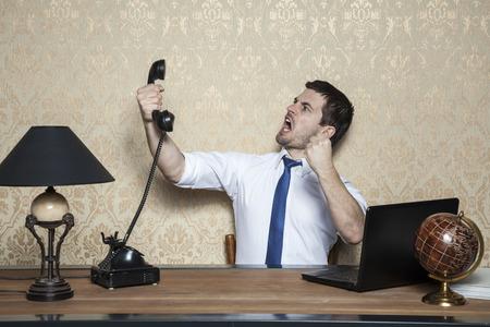 obnoxious: Businessman talking on the phone obnoxious customer