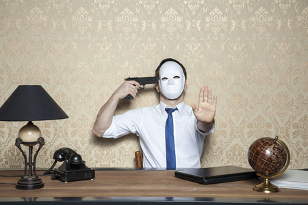 commit: withhold up with suicide Stock Photo