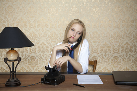 call center people in isolated: cigarette and talking on the phone