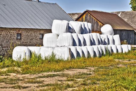 feedstock: bales of hay