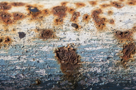 rust: old blue paint and rust