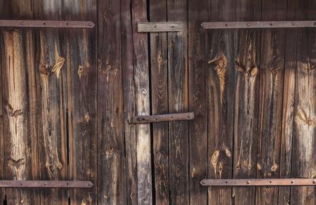 close fitting: big old wooden door