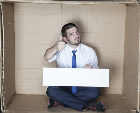 careerist: thumbs up for copy space Stock Photo