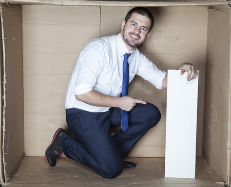 careerist: business man in the box office