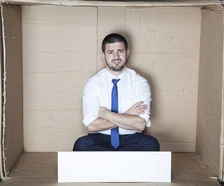 careerist: unhappy employee Stock Photo
