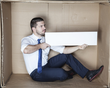 cramped space: nice place for your AD Stock Photo