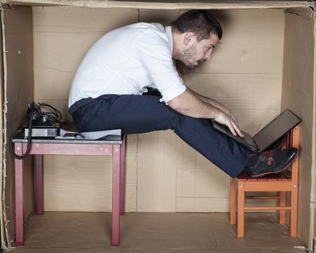 tight focus: strange position to work