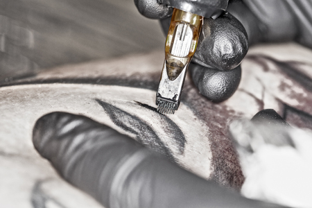 tattooing: tattooing from close