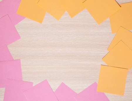 big cork: frame from sticky notes