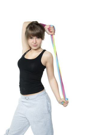 stretchy: girl builds muscle
