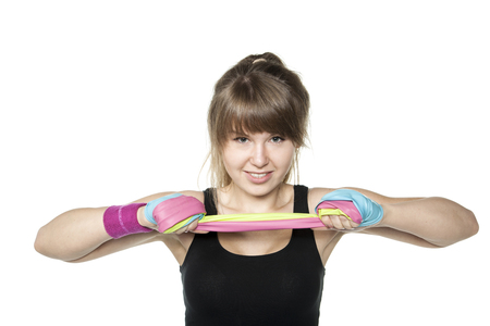 stretchy: strength and endurance Stock Photo
