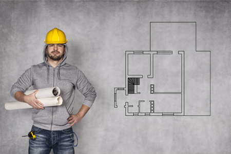 awkwardness: challenge before construction worker