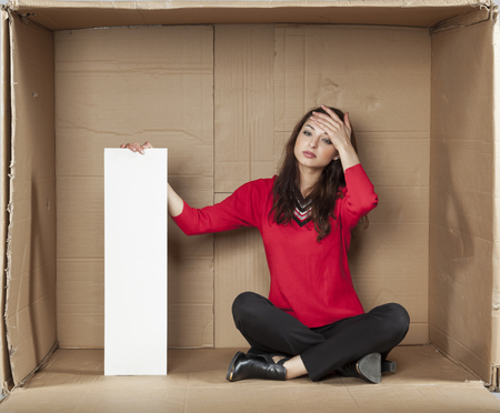 cramped space: headache from stress