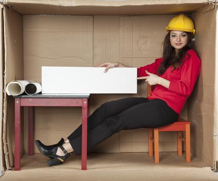 cramped space: architect indicates advertisement