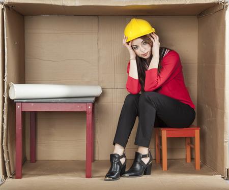 cramped space: breakdown at work
