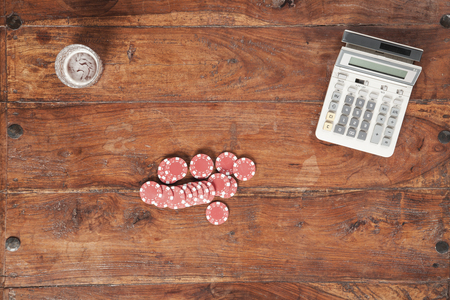 chances: calculation of chances to win Stock Photo