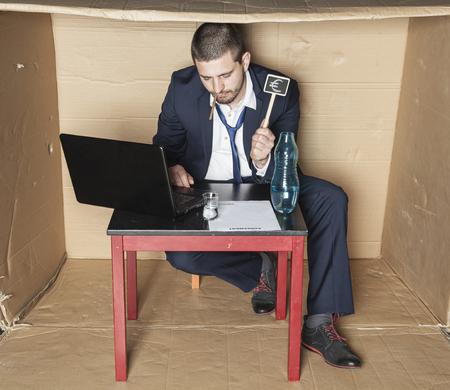 careerist: Drunk businessman makes bad decisions