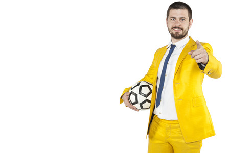 individualist: manager encouraged to play ball Stock Photo